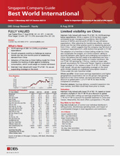 Limited visibility on China -  DBS Group Research